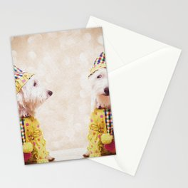 Circus Clown Dogs Stationery Cards