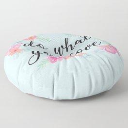Baesic Do What You Love Floor Pillow