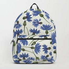 Vintage Pressed Flowers - Blue Cornflower Backpack