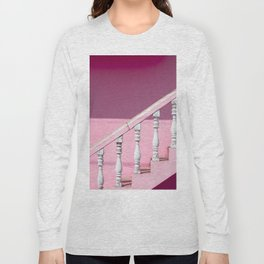 Pink Stairway Long Sleeve T-shirt