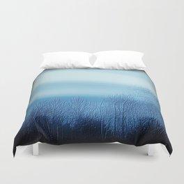 Bleu Noir Dusk Landscape Duvet Cover