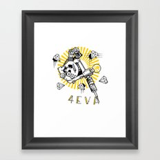 Tattoos and Diamonds are Forever Framed Art Print