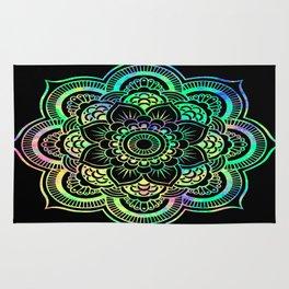 Neon Psychedelic Mandala Rug