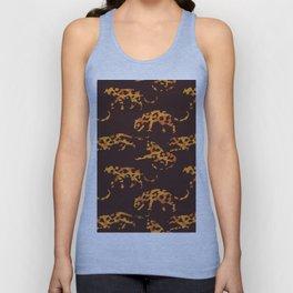 Trendy brown orange yellow modern safari leopard animal print Unisex Tank Top