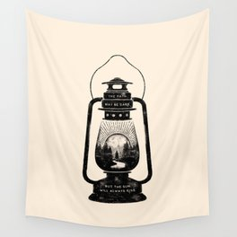 THE PATH MAY BE DARK BUT THE SUN WILL ALWAYS RISE Wall Tapestry