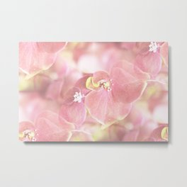 Some Soft Pink Flowers Hydrangea #decor #society6 Metal Print