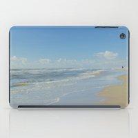 denmark iPad Cases featuring North sea coastline in Denmark by Ricarda Balistreri