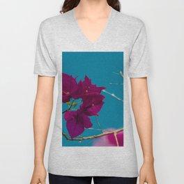 Pink and blue Unisex V-Neck