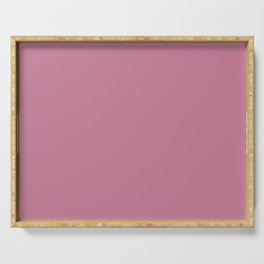 Mesmeric Pastel Pink Solid Color Pairs To Sherwin Williams Cyclamen SW 6571 Serving Tray
