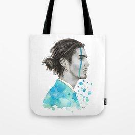 Man Bun Tears Tote Bag