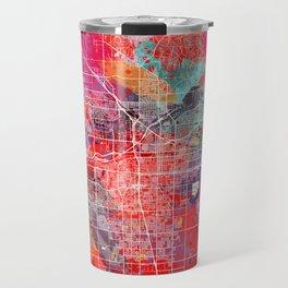Bakersfield map California painting square 2 Travel Mug