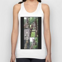 giraffes Tank Tops featuring Giraffes  by grapeloverarts