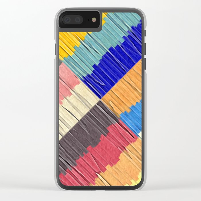 Cool Colors Collage Clear iPhone Case