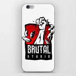 Brutal Studio Logo iPhone Skin