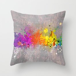 Colorsplash Throw Pillow