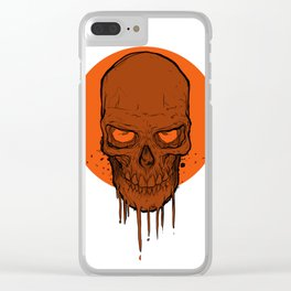 Skull in Red Clear iPhone Case