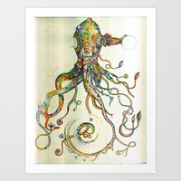 patterns Art Prints featuring The Impossible Specimen by Will Santino