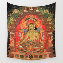 Green Tara and the Eight Fears Wall Tapestry