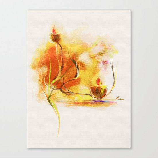 candle night Canvas Print