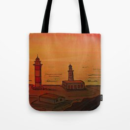 Good Morning / New and Old Lighthouse Fuencaliente La Palma Tote Bag