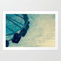 ferris wheel Art Prints featuring Ferris Wheel by Tracy Wong