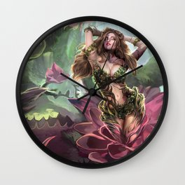 Corrupted flower Wall Clock