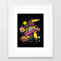 space jam Framed Art Prints featuring Space Jam Rhythm by playhouse