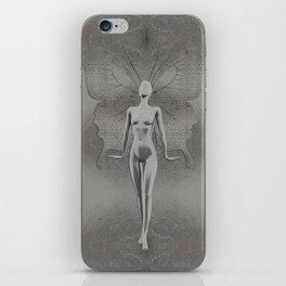Silver Leaf Fairy iPhone Skin