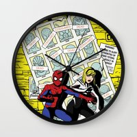 verse Wall Clocks featuring Days of Spider Verse by Chance L