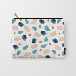 turquoise, navy, pink & gold Carry-All Pouch