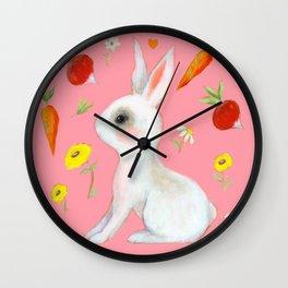 Bunny and treats Wall Clock