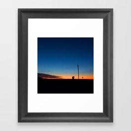 Outback sunset Framed Art Print