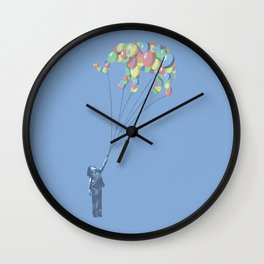 Elephants Can Fly Wall Clock
