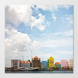 Colorful houses Willemstad Canvas Print
