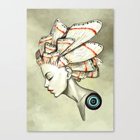 freeminds Canvas Prints featuring Moth 2 by Freeminds
