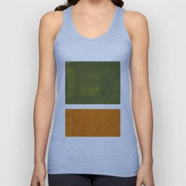 Olive Green Yellow Ochre Minimalist Abstract Colorful Midcentury Pop Art Rothko Color Field Unisex Tank Top