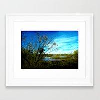 tye dye Framed Art Prints featuring Blue Skies Of Tye by Groovyal