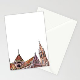 Hungarian church - secession   neo gothic Stationery Cards