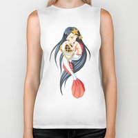 mermaid Biker Tanks featuring Mermaid by Freeminds