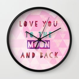 Triangles to the Moon and Back Wall Clock
