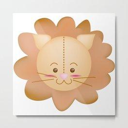 Cotton Head Lion Metal Print