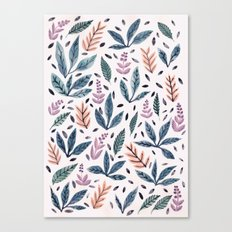 Painted Leaves Canvas Print