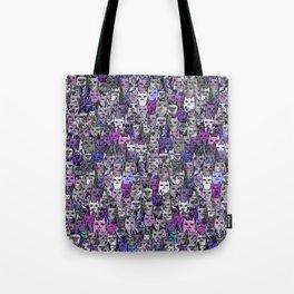Ultraviolet Gemstone Cats Tote Bag