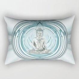 Serenity Meditation Bubble Rectangular Pillow