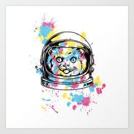 Astronaut Cat Art Print