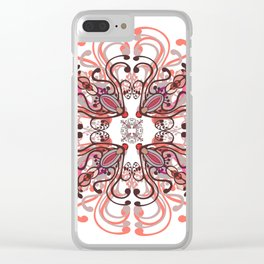Pink mandala. Clear iPhone Case
