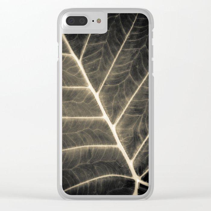 Leaf Patterns Clear iPhone Case