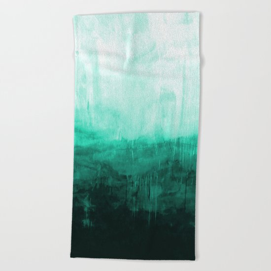 Paint 8 abstract minimal modern water ocean wave painting must have canvas affordable fine art Beach Towel