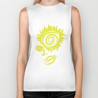 trippy Biker Tanks featuring Trippy Talula by Gira Patel
