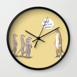 Cat & Meerkats Wall Clock